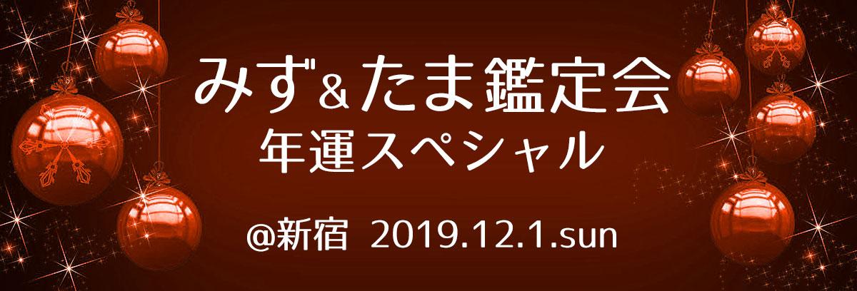 12/1(日)みずたま鑑定会 年運スペシャル@新宿